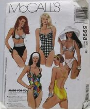 8e1674a562 McCalls Sewing Pattern 5998 Size 18 Misses Stretch Knit Swimsuits Uncut 1992