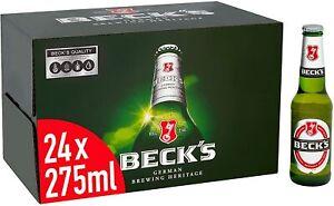 Beck's Original German Pilsner Lager Beer 24 x 275ml Bottles