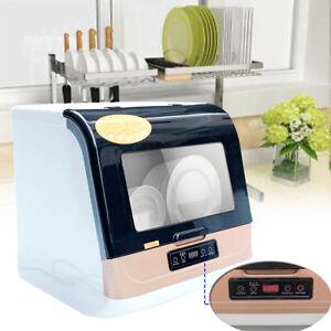 Mini Geschirrspüler Spülmaschine Tischgeschirrspüler 4 Programme Kompakt Spüler