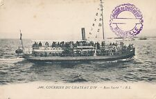 Postcard Ship ferry to Prison Du Chateau D'If cancel postmark Marsaille  31
