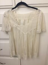 Plenty by Tracy Reese Ivory Lace Top Medium