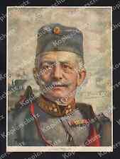 Max Antlers Farbporträt Conrad von Hötzendorf K.u.K Uniform Orden Adel Wien 1915