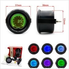 "2"" 52mm Car 7 Color LED Digital Turbo Boost Vacuum Pressure Gauge Meter 35 Psi"