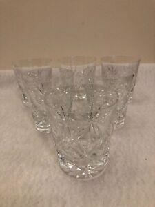 6 X Vintage Heavy Crystal cut glass Tumblers.9.25cm tall