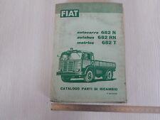 Catalogo originale ricambi 1958 camion Fiat 682 n rn t autocarro autobus motrice