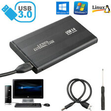 "External Backup Hard Drive Case 3TB USB 3.0 Enclosure 2.5"" Portable HDD Sata SSD"