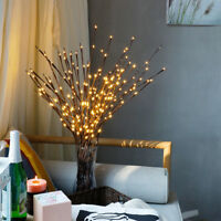 LED Willow Branch Lamp Floral Lights 20 Bulbs Home Christmas Party Garden CY