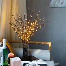 LED Willow Branch Lamp Floral Lights 20 Bulbs Home Christmas Party Garden Decor-