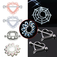 2Pcs Sexy Women Nipple Ring Surgical Steel Barbell Ring Body Piercing Jewelry