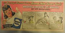 Super Suds Ad: It's Wash Days Blessed Event! New Super Suds ! 1940's