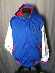 Red White & Blue Jordan Jumpman Hoodie Hooded Jacket Coat XL Jump Man