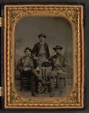 Photo Civil War Union 3 Soldiers 75th New York Infantry Regiment Wine Cigars