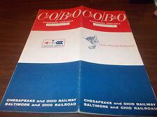 1968 C&O/B&O Railroad Timetable / February 7, 1968