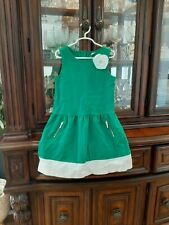 Janie And Jack Dress Size 7 Green EUC