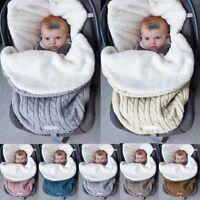 Baby Winter Sleeping Bag Lamb Knitting Warm Newborn Swaddling Sleepsacks Blanket