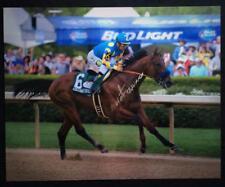 AMERICAN PHAROAH VICTOR ESPINOZA SIGNED 16X20 PHOTO Breeders' Cup Horse Racing