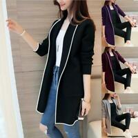 Women Sweater Long Sleeve Casual Cardigan Autumn Jumper Coat Jacket Outwear