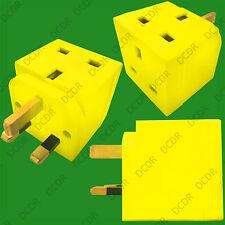 LEMON ZEST 2 VIE 13 Amp Rete UK 3 Pin PLUG Socket Splitter Adattatore, TV, Laptop