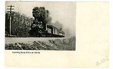 Deep River Conn CT-TRAIN AT FULL STEAM LEAVING AT 10:18- Postcard