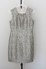 "Bluemarine ""Bluegirl"" cocktail dress, silver/multicolour- size 8, EU 36"