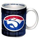 81875 WESTERN BULLDOGS AFL LOGO TEAM SONG CERAMIC COFFEE MUG IN BOX 11OZ
