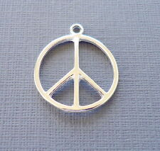 Lot 3 pcs Pendant Dangle Charm PEACE SIGN Silver plated Jewelry finding DIY k8