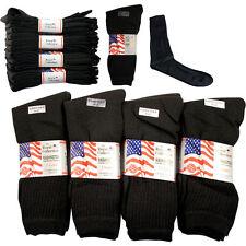 12 Pares de Calcetines de Algodón para Hombre Deporte Negro Talla 6 -11 Casual Nuevo