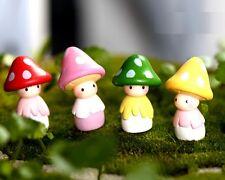 New listing Mushroom Doll Miniature Dollhouse Ornament Flower Pot Aquarium Craft 1pc