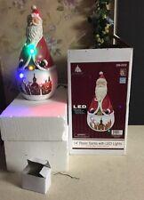 "RARE 14"" LED SANTA Lighted STATUE Christmas 2012 ORIGINAL BOX REINDEER SLEIGH"