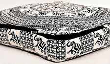 "Indian Square Floor Pillow Mandala Meditation Cotton Cushion Cover 35"" Petsbed"