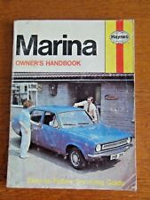 HAYNES CAR MANUAL, MARINA, ALL MODELS FROM 1971, SALOON, COUPE and ESTATE
