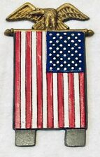 Midwest of Cannon Falls Door Knocker Topper American Flag Golden Eagle Patriotic