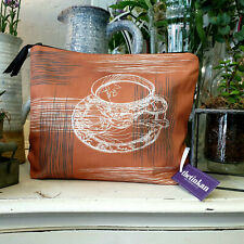 Warm Rust Teacup & Saucer Travel Beauty Make Up Washbag created by thetinkan