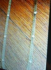 Ann Taylor Loft Necklace and Bracelet Hold Tone Mesh Chain  Opal colored stones
