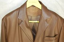 SCHIATTI & CO CARROLL MEN LEATHER FITTED  JACKET/BLAZER SIZE XL