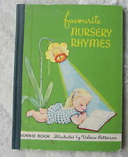 Bonnie Book of Favourite Nursery Rhymes illustrated by Valeria Patterson - 1950