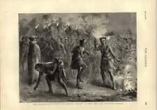 1873 GUERRA Ashanti fantees eseguono Fetish tenere lontani gli invasori