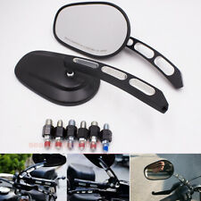 Motorcycle Rearview Side Mirrors for Honda Shadow Suzuki Bobber Cruiser 10mm 8mm