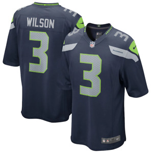 Seattle Seahawks Nike Jersey Men's NFL Home Jersey - Wilson 3 - New