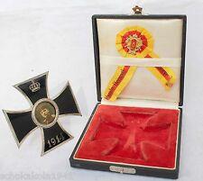 Iron Cross cruz cruz emaillierter al plato en el estuche y ek 1 tirada