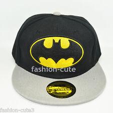 New DC Grey Black Kids Children Unisex Snapback Batman Hat cap flat baseball