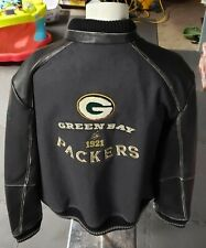 Green Bay Packers NFL Island Varsity Tommy Bahama Jacket Coat..RARE.Leather..XXL