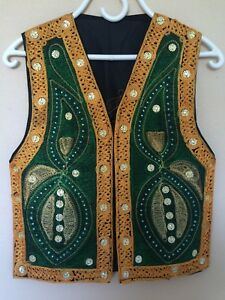 afghan tribal kuchi ethnic embroidered women kids waskat
