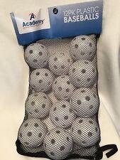 Sports Plastic Hole Ball Baseballs, 9-Inch, Pack of 12, White.