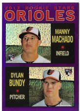 2013 Topps Heritage Chrome Purple Refractor Manny Machado/Dylan Bundy HC94 RC