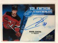 2017-18 UD ICE Pavel Zacha Auto Glacial Graphs Devils