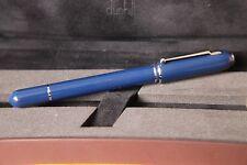 Luxury Dunhill Sidecar Blue Fountain Pen - uninked - gold nib