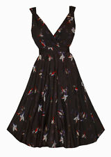 V Neck Party 50's, Rockabilly Plus Size Dresses for Women