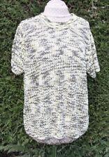Bianca size 20 Pretty Yellow Cream Green short sleeve crew neck top hardly worn