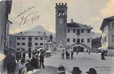 9385) PIEVE DI CADORE BELLUNO LA PIAZZA, BANCARELLE DEL MERCATO. VG NEL 1915.